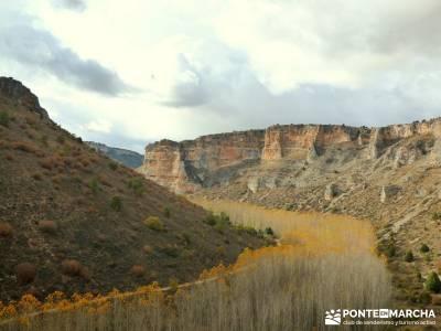Hoces Río Riaza - Villa Ayllón; senderos en la palma de paseo por madrid